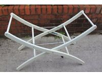 Sturdy MotherCare Baby Moses Basket Stand in White Wood - Excellent condition