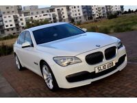 BMW 7 SERIES 3.0 730D M SPORT ALPINE WHITE FULLY LOADED LUXURY CAR