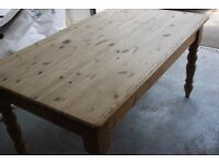 Heavy Pine wood Dining Table and 6 chairs