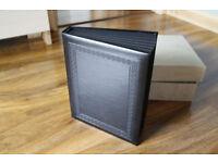 boxed 7x5 inch prestige quality black wedding photo album 20 photo sides