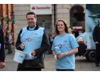 Fundraisers required for the Chesterfield Fundraising Group for the Royal Air Forces Association