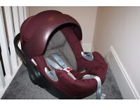 Mamas and Papas Cybex Platinum infant baby car seat Aubergine CAN POST
