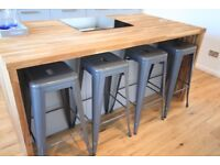 Grey Graphite metal bar kitchen stools x 4 BRAND NEW never used - collection BASSETT SOUTHAMPTON