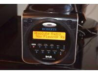 ROBERTSMINI DAB RADIO/CD/ALARMCLOCK/DAB ANTENNA CAN BESEEN WORKING