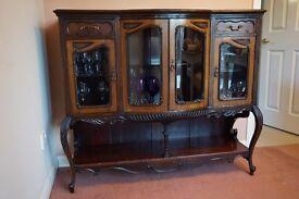 Antique Edwardian display cabinet