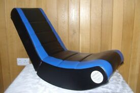 Boys gaming chair in black/blue, never been used.