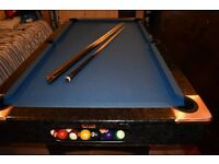 BCE Pool Table / Table Tennis Top- 6ft