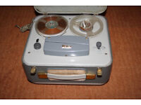 Walter mono reel to reel with built in valve amp tape recorder original case