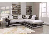 **SPECIAL OFFER** BRAND NEW MAX DIAMOND CRUSH VELVET CORNER SOFA OR 3+2