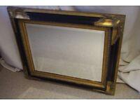 Mirror black and gold - ornate mirror