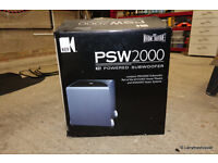 KEF PSW2000 POWERED SUBWOOFER - Black 370 x 320 x 320mm - Boxed