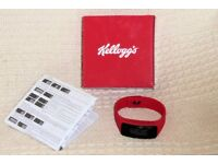 Ladies Red Kellogg's Fit Band, Measures Steps and Distance, Instructions, Boxed, Unused, Histon