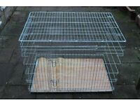 Ellie Bo extra strong collapsible dog crate silver