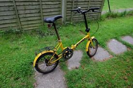 Folding bicycle for sale - great for the train!
