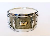 Pearl Firecracker snare drum 10x5 with ISS mounting hardware
