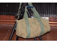 Unisex Tweed duffle bag clearance