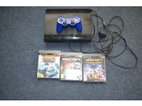 ps3 console + 3 bundle in used good condition