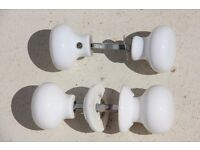 White Porcelain Door Knobs (5 pairs)