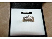 9 Carrot Gold Cathedral Illusion Ring With Small Diamonds Size - O