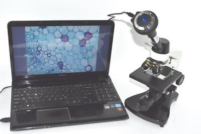 Miko Vm-400bac 40x-400x Binocular Compound Microscope W Usb Camera Nikon Amscope