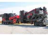 Mobile Stone Crushing and Screening Plant - Turkish brand.