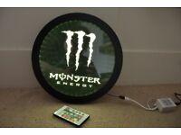 Round Monster Energy Multi Coloured LED Sign