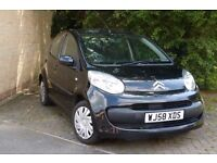 Citroen C1 Rythm in black, 1.0, 5 door, low mileage, excellen, £20 tax, cheap insurance and 60+ MPG