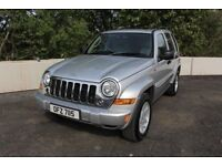 07 JEEEP CHEROKEE 2.8 CRD LIMITED 4WD AUTOMATIC ++ FULL HEATED LEATHER , SUNROOF & SAT NAV ++
