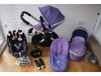 iCandy Peach 2 Parma Violet pram pushchair travel system 3 in 1 CAN POST