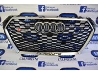 AUDI RS4 FRONT GRILL BLACK/ SILVER QUATTRO 2016 ONWARDS FITTING FITS 8W0 MODELS