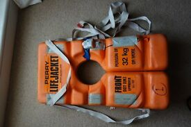 VERY RARE VINTAGE PERRY LIFE JACKET ORANGE £30