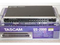 Tascam US-2000 Rackmount External USB Audio Interface 16 in 4 out 96kHz 24-bit