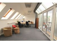Top floor, bright, 4 min desk office space to let. Serviced. Fantastic location just off Clapham HS