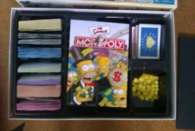 Simpsons Monopoly board game