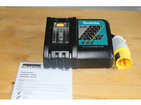 new makita 110v dc18rc fastest charger for all 14.4-18v LXT batteries. 22min fastest jobsite charger