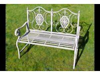 Victorian Vintage Style Antique Grey Garden Bench 4844