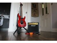 ESP LTD M 200FM Electric guitar with Marshall amp