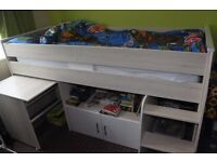 Childrens Mid Sleeper Bed