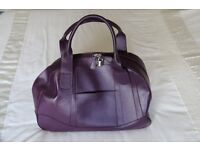 Marks and Spencer leather travel bag