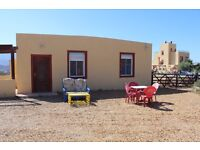 Spain relax in a one bedroom chalet with pool in the Tabernas Desert. Long term rental offered.