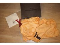 Luxury Louis Vuitton yellow with orange tint color Scarf /Shawl - brand new