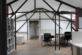 Individual Private Warehouse Office and Studio Creative Spaces. 4 desk and 6 Offices. East London.