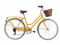 Classic Yellow Bicycle with basket, only used a few times - Mango Portland Sunblush