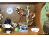CERAMIC COWBOY AND HORSE