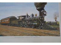 Framed Jack Hill Canadian Steam Train Print