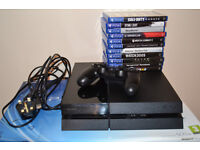 PS4 500gb with 1 Controller and 7 Games