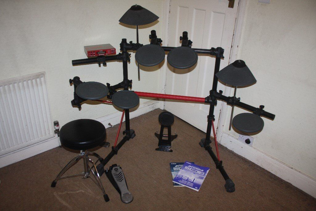 Yamaha DTXPRESS II Professional Electronic Drum Kit complete with Stool +  Headphones and Drum Sticks 9adef03ce