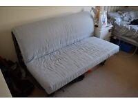 Ikea Metal Frame Double Futon Sofa Bed (Perfect Condition)