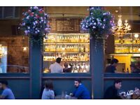 Experienced waiter/waitress/bar staff required for busy gastro-pub, Edgware Road – Competitive pay.