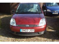 Ford Fiesta lx 2003-03-reg, 1242cc petrol, 155,000 miles, new MOT upon purchase,